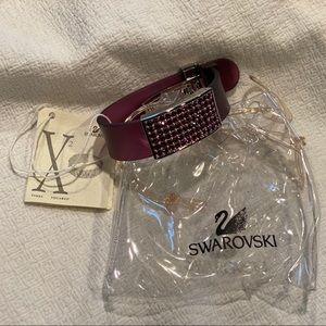 Swarovski Purple Pave & Rubber Bracelet